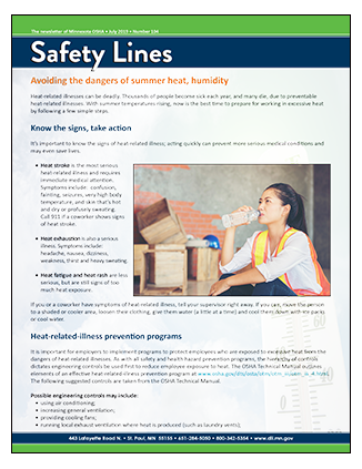 Safety Lines cover, July 2019 edition